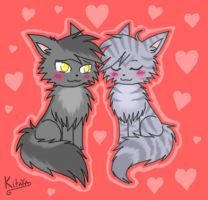 Greystripe and Silverstream by Night-Chimeras-Cry