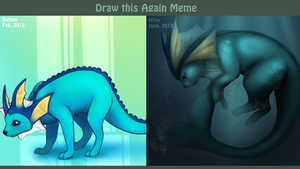 Draw This Again Meme Vaporeon 2012 to 2013 by shesta713