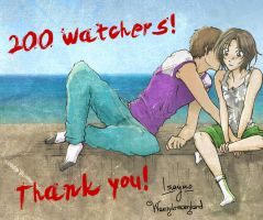 200 WATCHERS! (Sweet News) by isaydreamland