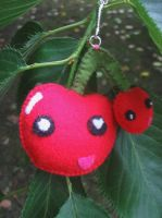 Cherry keyring by kickass-peanut