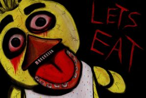 Five Nights At Freddy's Chica by charcoalman