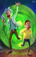 Rick and Morty by NOPEYS