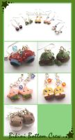 Bikini Bottom Earrings by HanaClayWorks