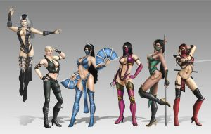 MORTAL KOMBAT LADIES by SrATiToO