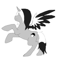 Monochrome as a Alicorn by MonochromeFuji