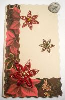 Quilled Poinsettia card by YoyoTheMadScientist