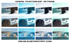 Ocean Photoshop Actions Set by Grugle