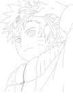 Young Naruto (Line-Art) by Diemon007