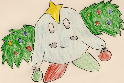 Christmas Kirby Adopt by SkyraTwilight812
