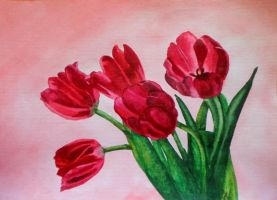 Red Tulips by drakonosirdis