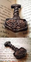 Thor's Hammer pendant by alison90