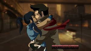 Korra and Mako by Prydzanimation