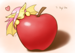 Commission Bat on an apple  by HowXu
