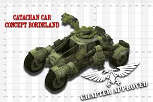 catachan concept car bordeland for w40k universe by jibicoco