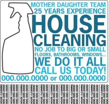 housecleaning flyer by YAYforPOPCORN