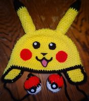 Crochet Pikachu Hat by Twitcorn