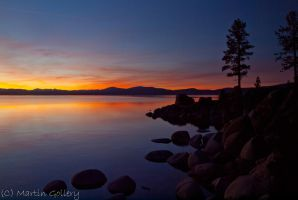 Lake Tahoe Sunset 4 by MartinGollery