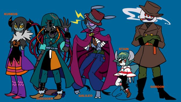 Halloween characters by TOUSEI