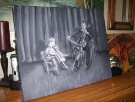 Ageless: Grayscale Acrylic by Ark-of-Menphis