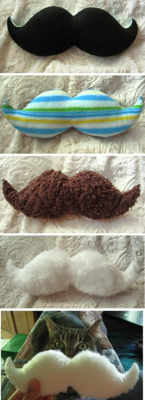 Everyday Mustache Plushes by ~P-isfor-Plushes