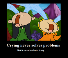 Crying Never Solves Problems by Sassafras-Tea