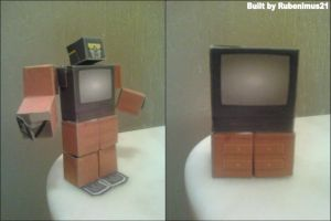 Dead Pixel Transformable Papercraft Finished by rubenimus21