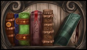 Bookcase by Key-Feathers