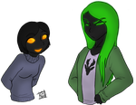 Conscience and Evergreen - Human version by ChibiCorporation