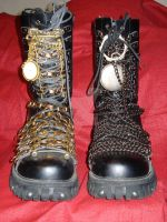 New Customized Themed Boots by tungstenwolf