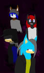 Warriors of Darkness (lineless) by PyroShadow117