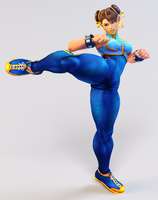 Chun Li 3DS Render by x2gon