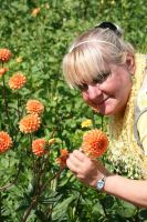 Ingeline and the dahlias 2 by ingeline-art