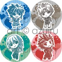 KH ::: chibi button set by azuiru