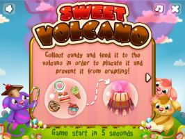 Puzzled flash game Sweet Volcano by Pykodelbi