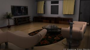 3D Room by SouravLovesNature