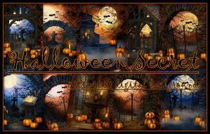 Halloween Secret, digital backgrounds by KlaraKay
