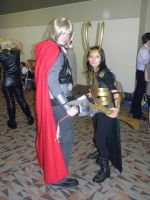 Otakon 2012 - Thor and Loki by mugiwaraJM