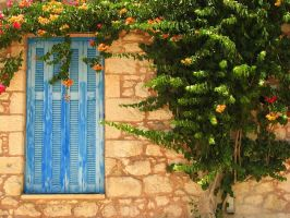 Greece - Blue Door by AgiVega