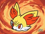Pokemon Art Academy: Fennekin head by spyrofreak01