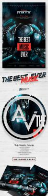 The Best Music Ever Flyer Template by amorjesu