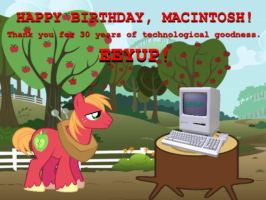 Happy Birthday, Macintosh! by AnimeJason2010