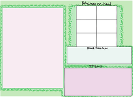 Simple pokemon trainer template by OCkitten