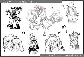 Vocaloid  random sketches by Rolly-Chan