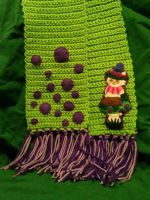 Hand Crocheted Teemo Scarf by magefeathers