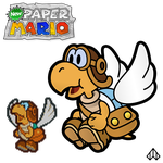 New Paper Mario: Parakarry by Nelde