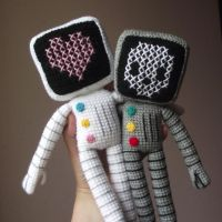 Roger the crocheted robot by AnneKo