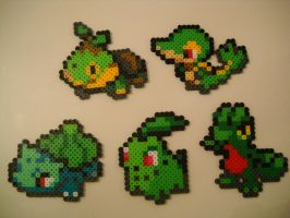 Grass Type Starters Gen I through V by RetroNinNin