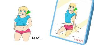 Weight gain girl before and after by bellywg