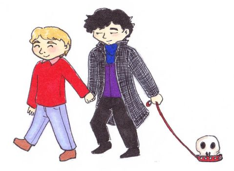 Sherlock and John Go for a Walk by Weirdness