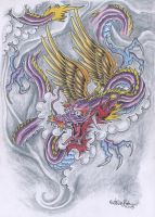 Japanese dragon 1 by vikingtattoo